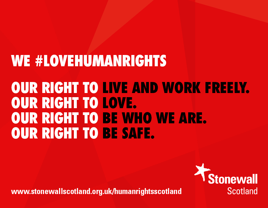 We #lovehumanrights (sharing graphic)