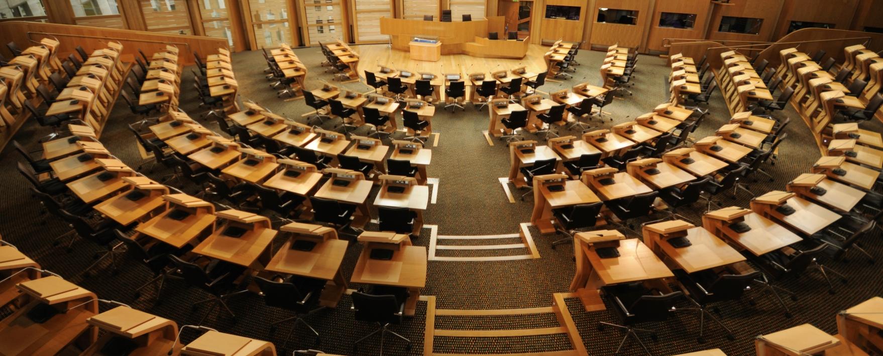 Debating Chamber, Scottish Parliament Building