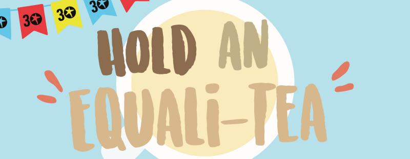 Hold an Equali-Tea web banner
