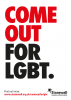 Come Out For LGBT A3 poster