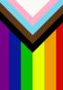 Inclusive rainbow flag
